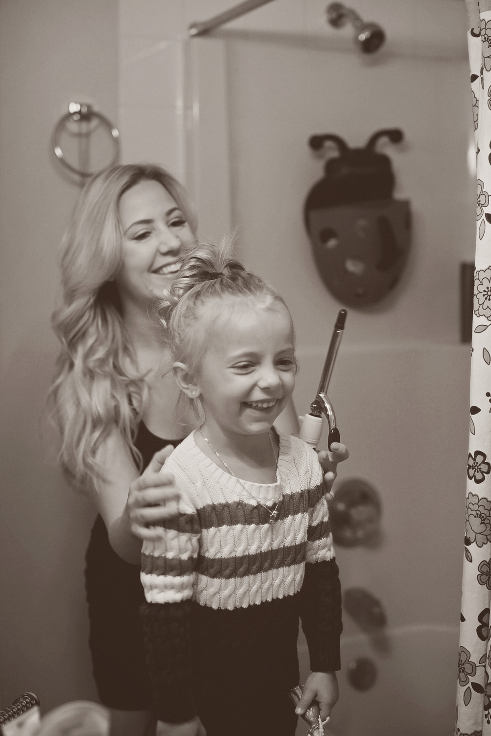 i love being your mama and getting you all fancy and doing your hair!