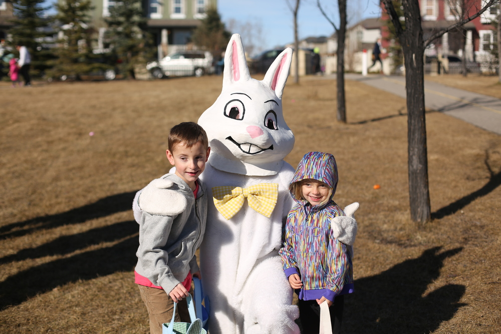 The kids love the annual Evergreen easter egg hunt! Turns out the easter bunny was also there!