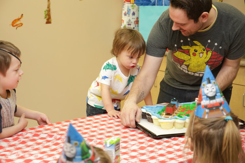 Ryder didn't care about the cake or candles he just wanted the train lol