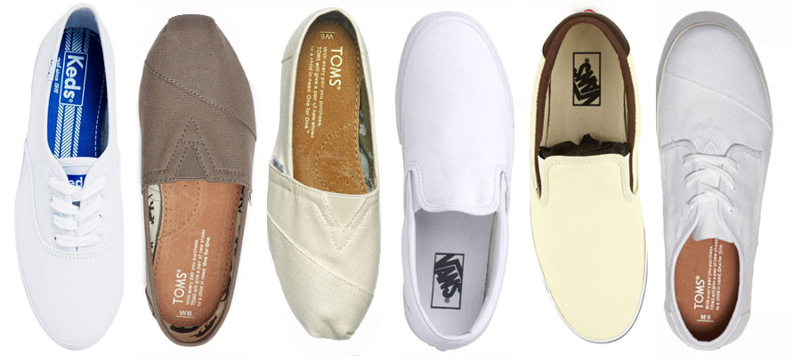 e6f3caa845 Vans canvas slip-ons, or off-brand shoes in the same style, are the  broadest and easiest canvas to work on. I like all the different colors  that Toms come ...