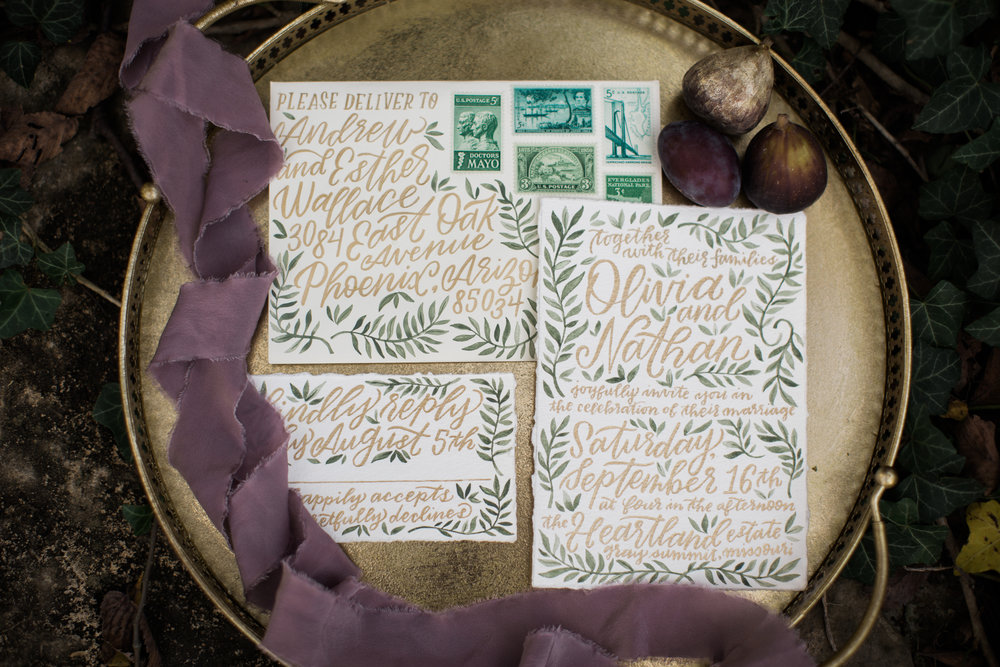 Styled Shoot Invitation Suite
