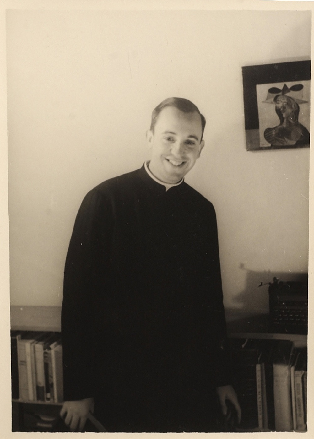 In this 1966 photo released by the El Salvador School, Argentine seminarian Jorge Mario Bergoglio smiles for a portrait at the El Salvador school where he taught literature and psychology in Buenos Aires, Argentina. Bergoglio was elected pope on Wednesday, March 13, 2013, making him the first pope ever from the Americas.  Bergoglio, who was born in 1936, chose the name Pope Francis. (AP Photo/El Salvador School)