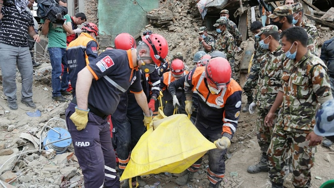 Turkish relief efforts in Nepal.