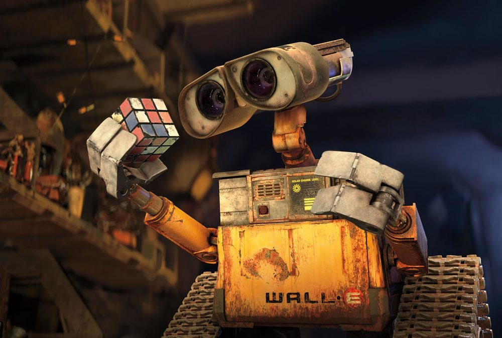 one vision of a Robot  Historian,  from the Pixar movie WALL-E.