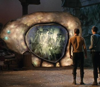 "A time portal as imagined on the Star Trek episode, ""The City on the Edge of Forever."""