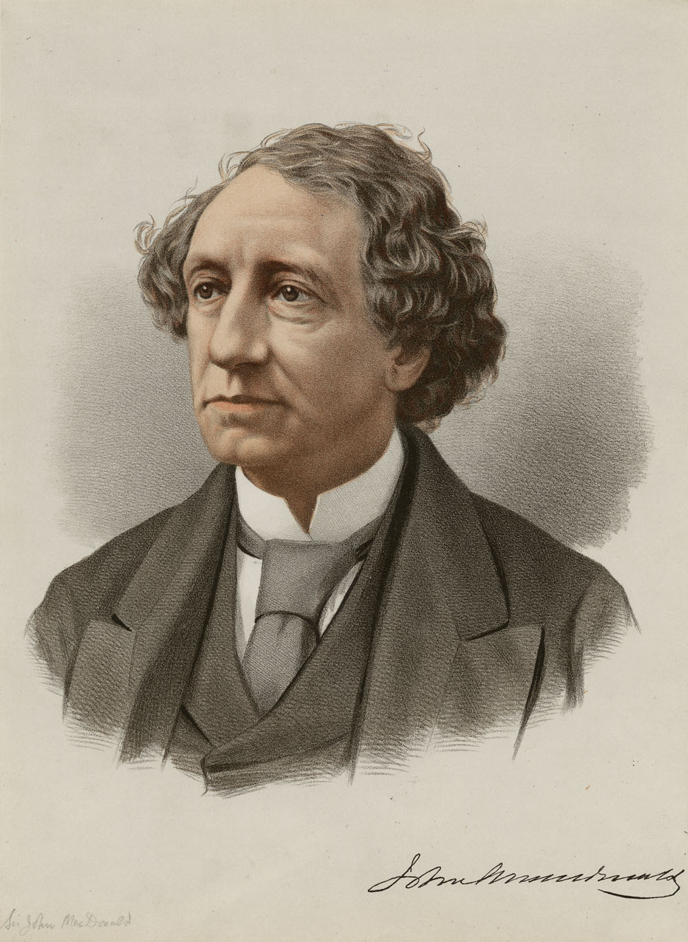 Sir John A. Macdonald via  Library and Archives Canada .