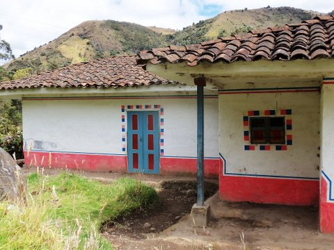 a house in Guambia, Indian reservation
