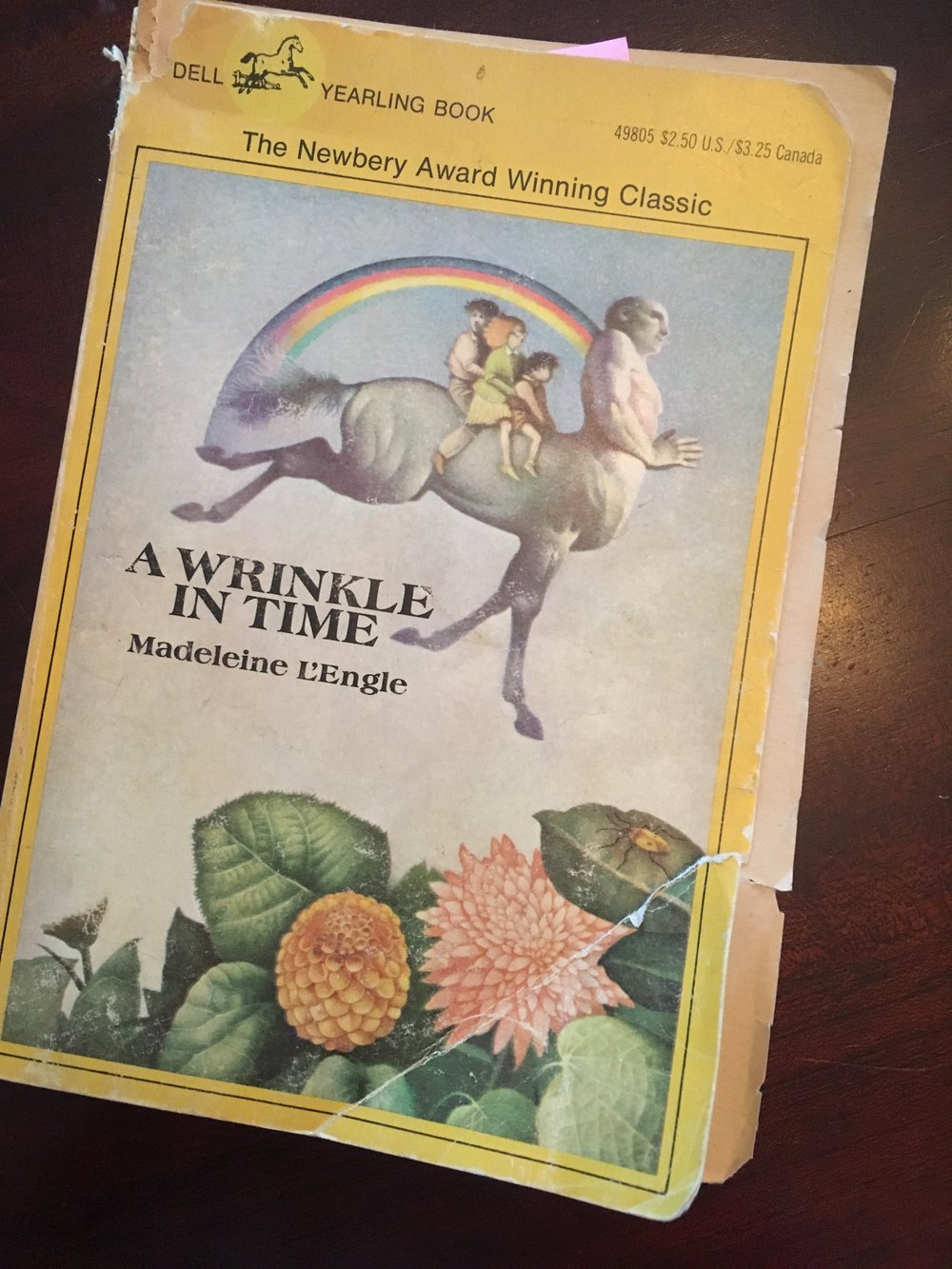 My original, well-worn 1983 copy of A Wrinkle in Time