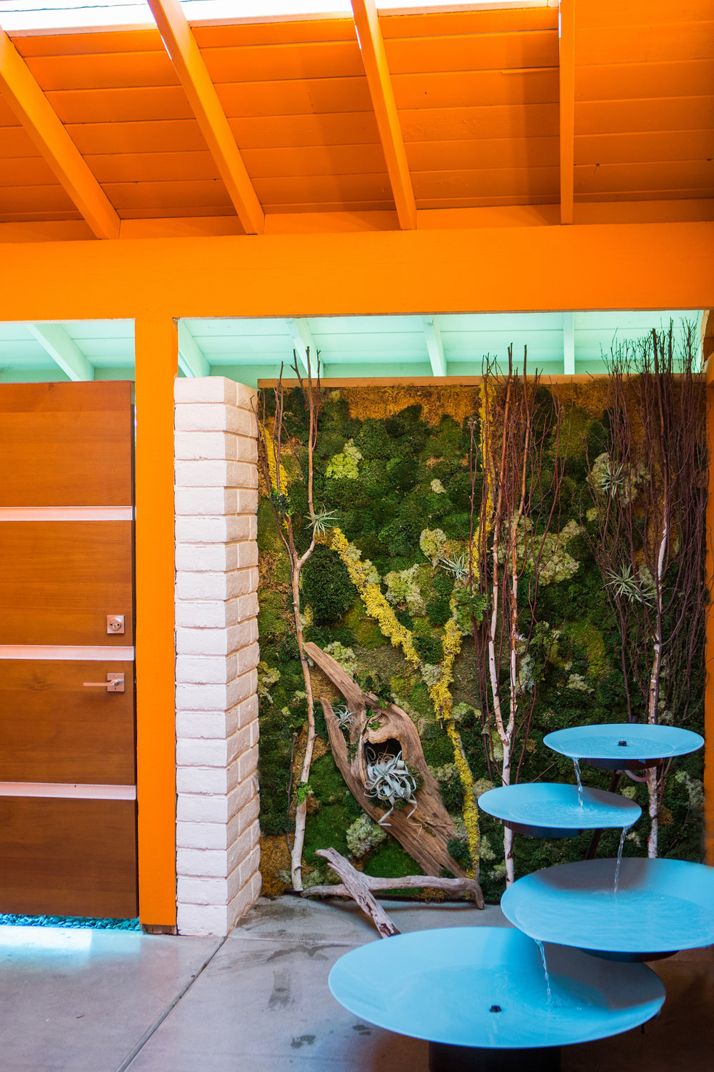 courtyard vertical garden art and water fountain.jpg