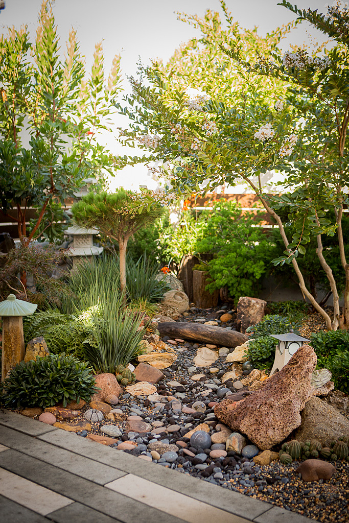 small space backyard drystream bed landscaping idea.jpg