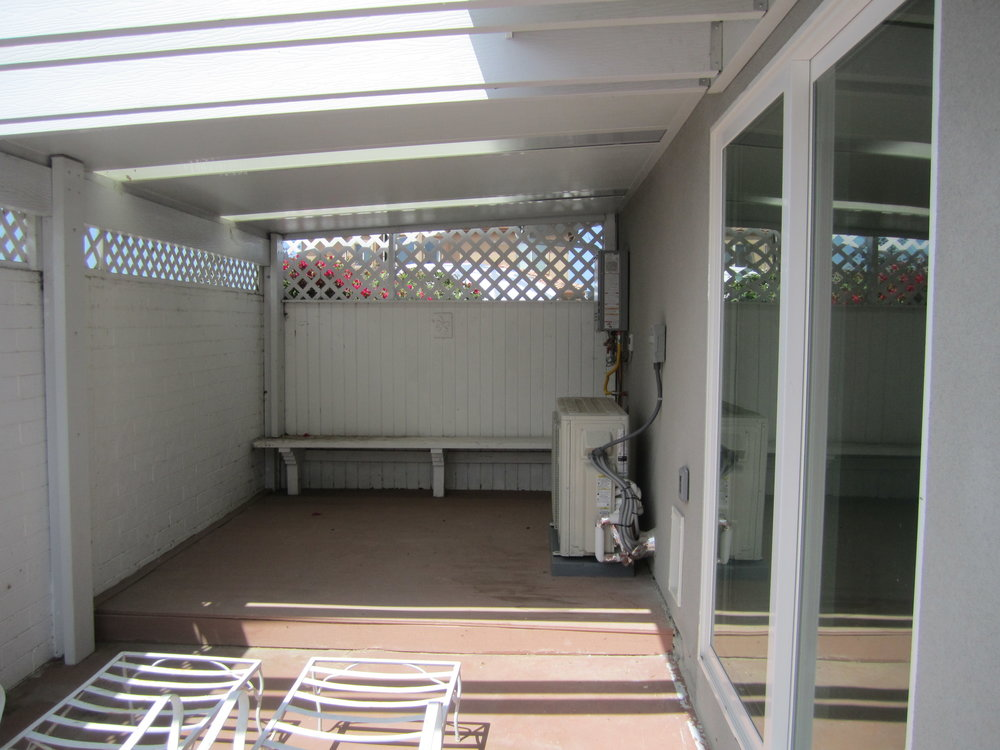 Before photo of side yard - Catio & Yoga Outdoor Room