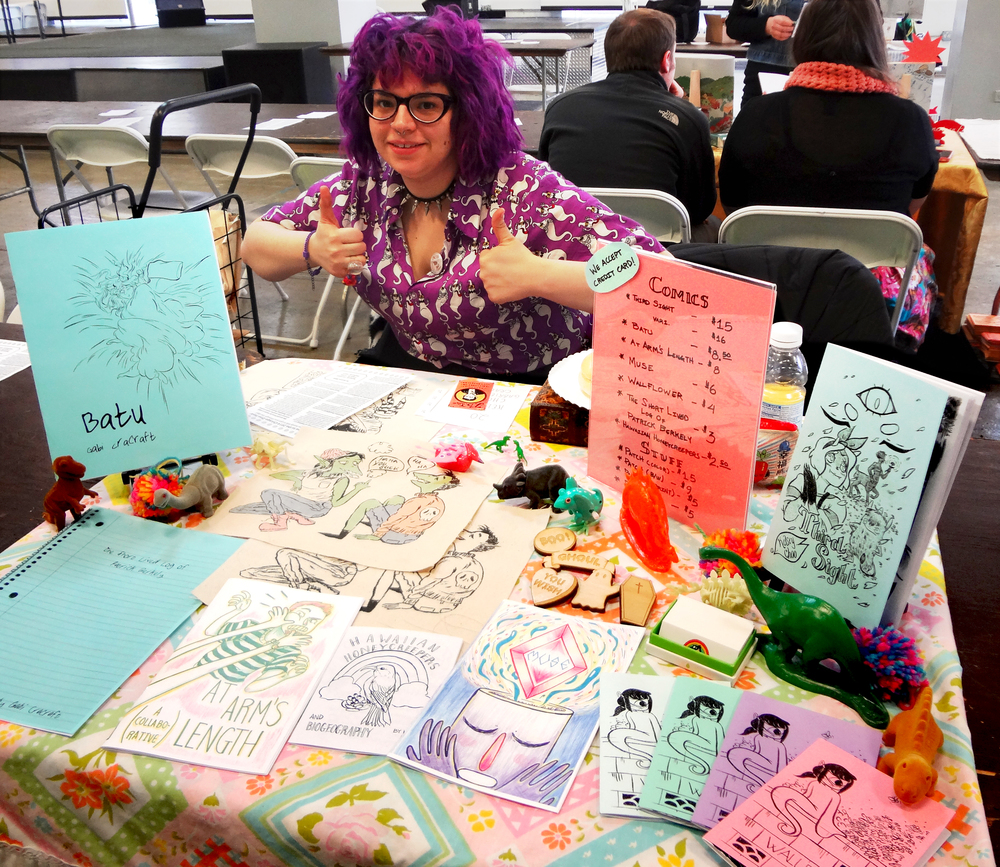 Our table at Chicago Zine Fest