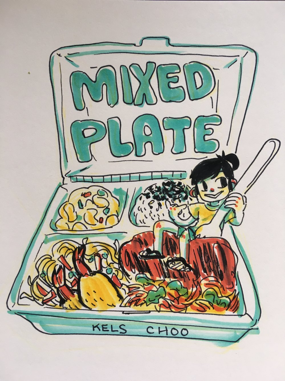 Mixed Plate - An auto-bio comic about living in the mainland USA, and growing up in Hawaii.