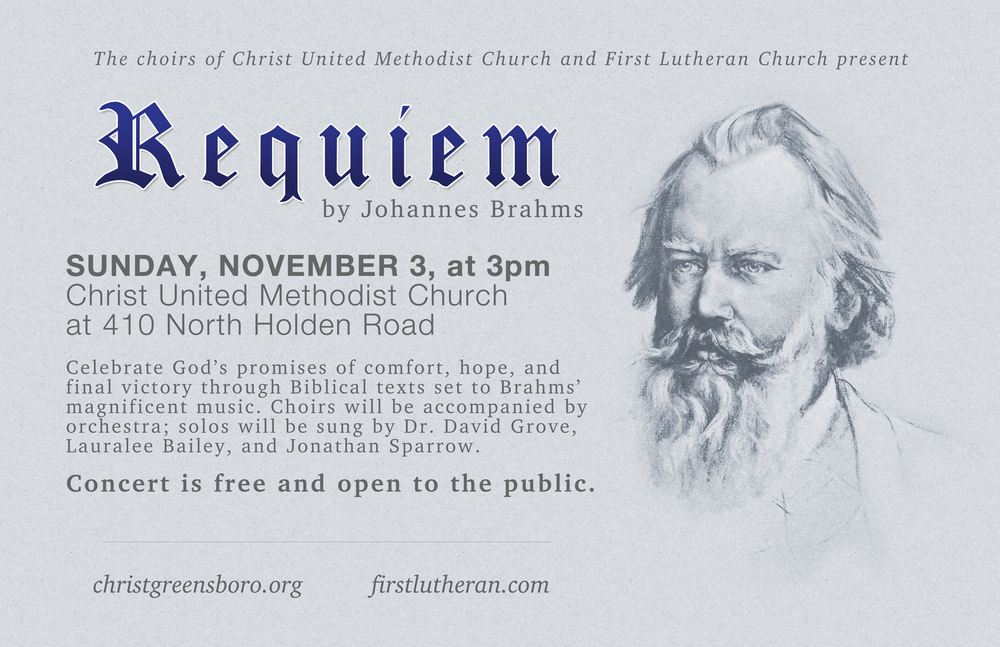 Concert poster for Brahms' Requiem