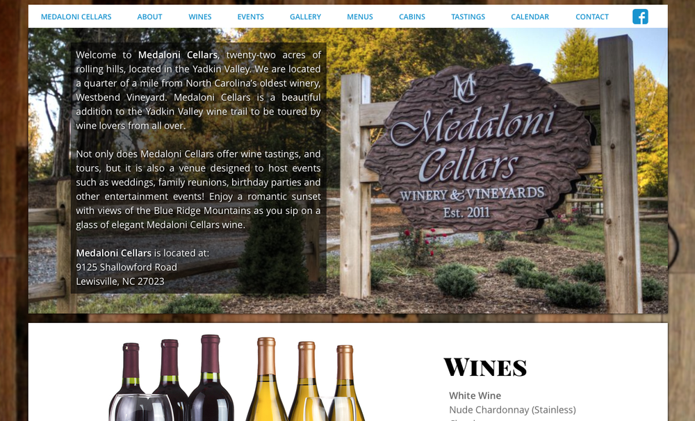 Production site for Medaloni Cellars