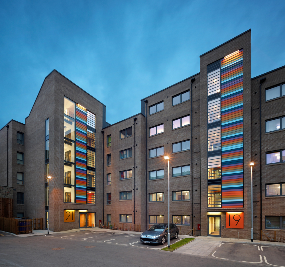 Golspie Street Courtyard - Image Copyright Andrew Lee