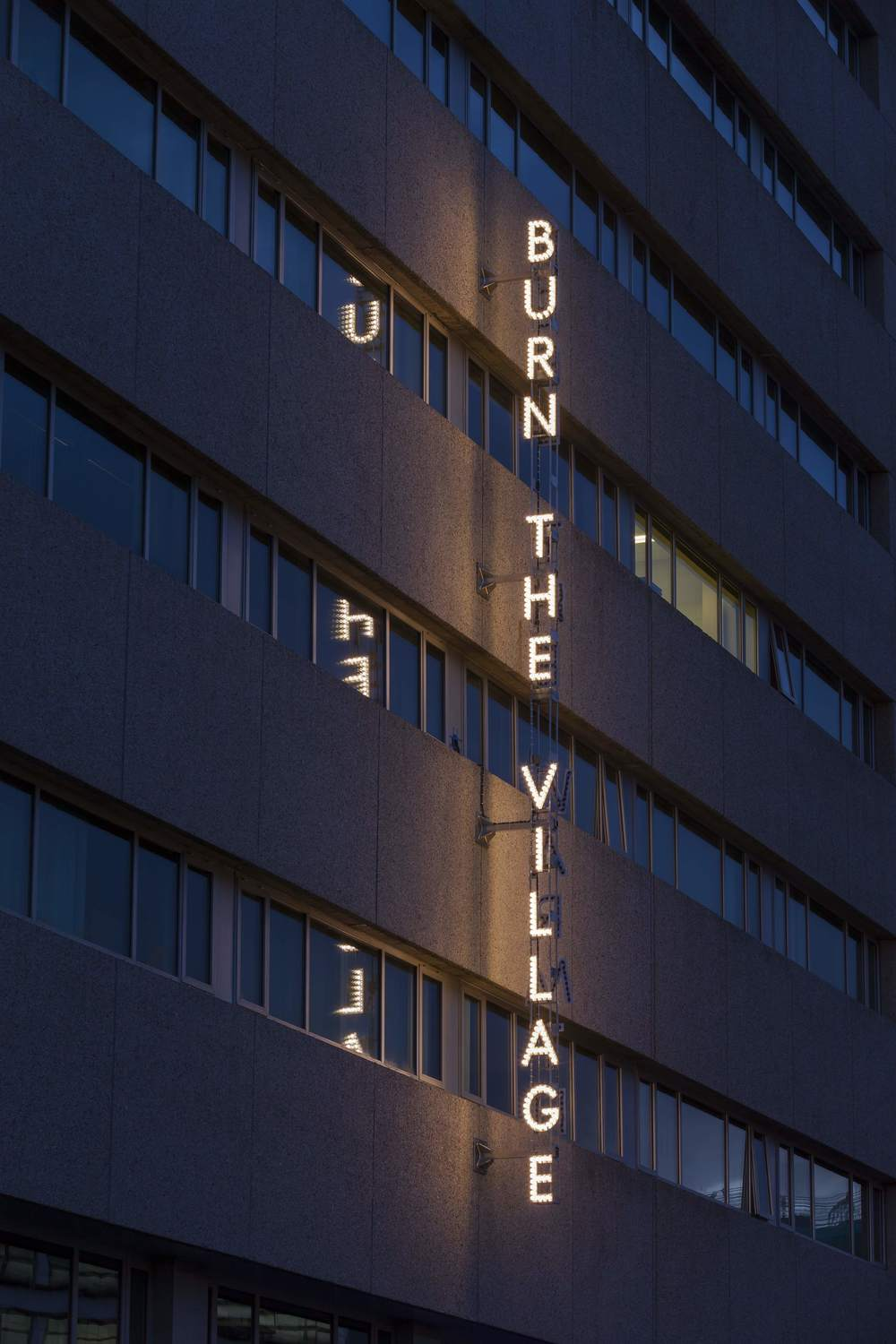 Nathan Coley   'Burn the Village, Feel the Warmth (Utrecht)'   Call of the Mall    Image Credit : Jannes Linders