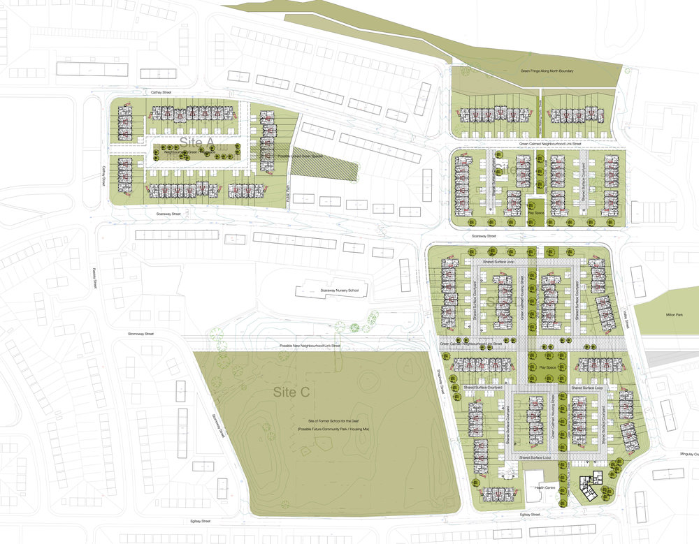 Masterplanning at Scaraway Street, Glasgow