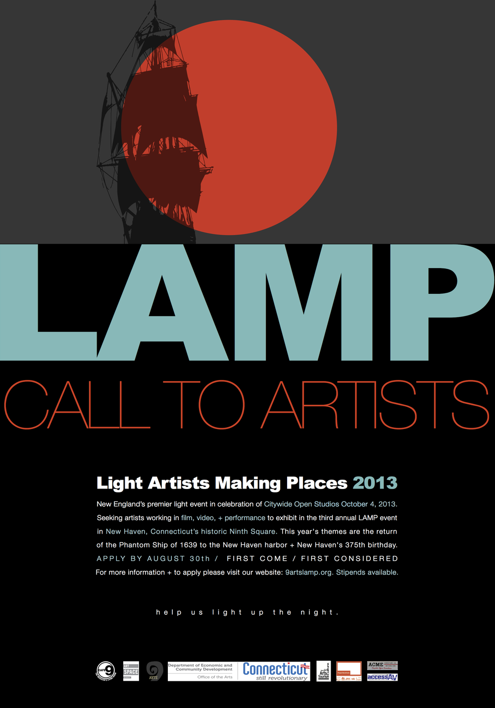 9arts LAMP 2013 call to artists.