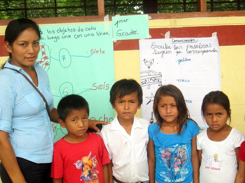Glinda and a few of her students from the Awajún language community in Peru.