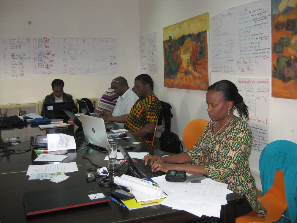 Ruth working at the recent Mozambique Bloom training event, which she facilitated.