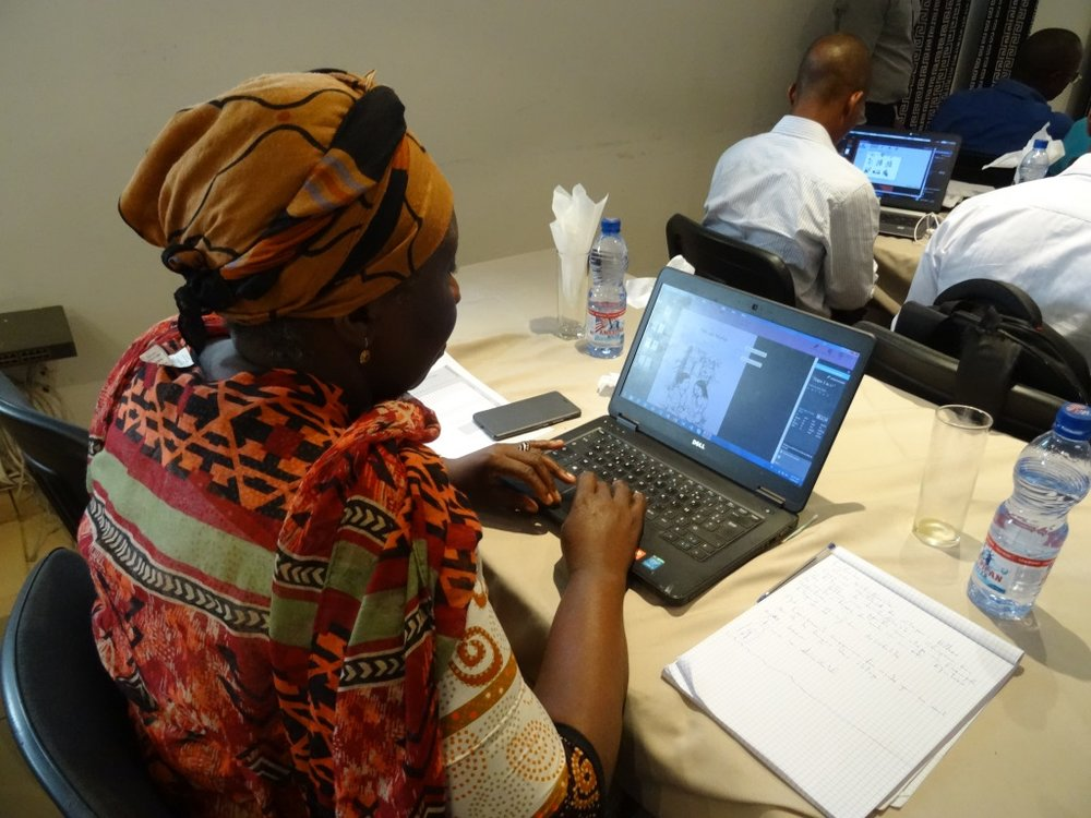 Bloom training workshop in the Democratic Republic of the Congo.