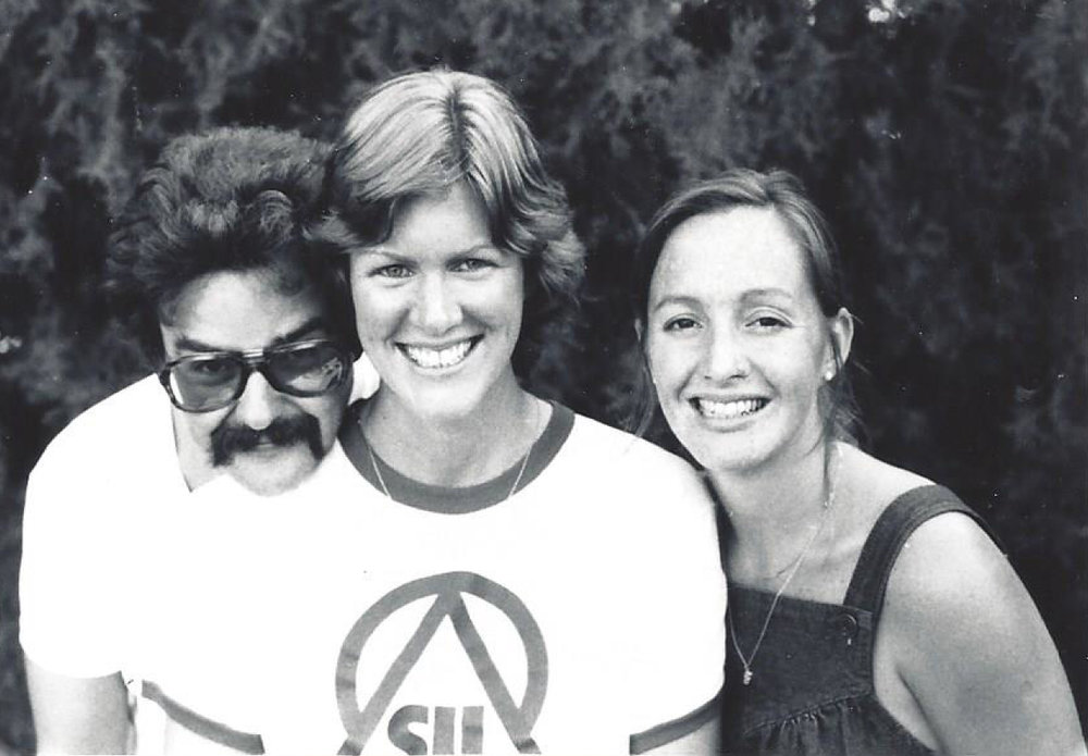 With Fellow students rick & melanie floyd, in norman (1980)