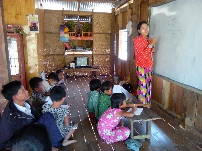 Learning Circle facilitator Tin Tin Myint leads a session in Myanmar.