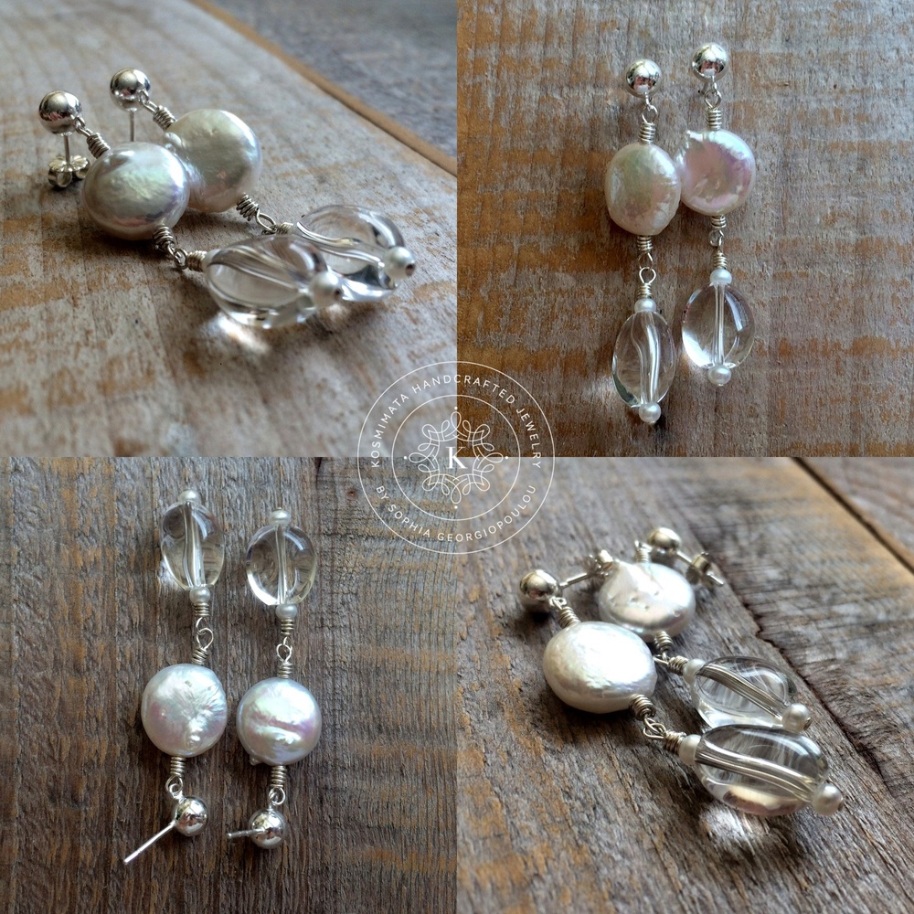 a620acf29 Pearl Lights Sterling silver, freshwater coin pearls, clear quartz;  handmade. Soon in the online shop