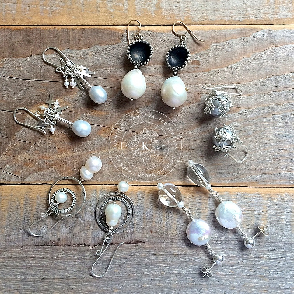 9b913ccfe The one of a kind Pearl Earrings are now listed in my online shop.