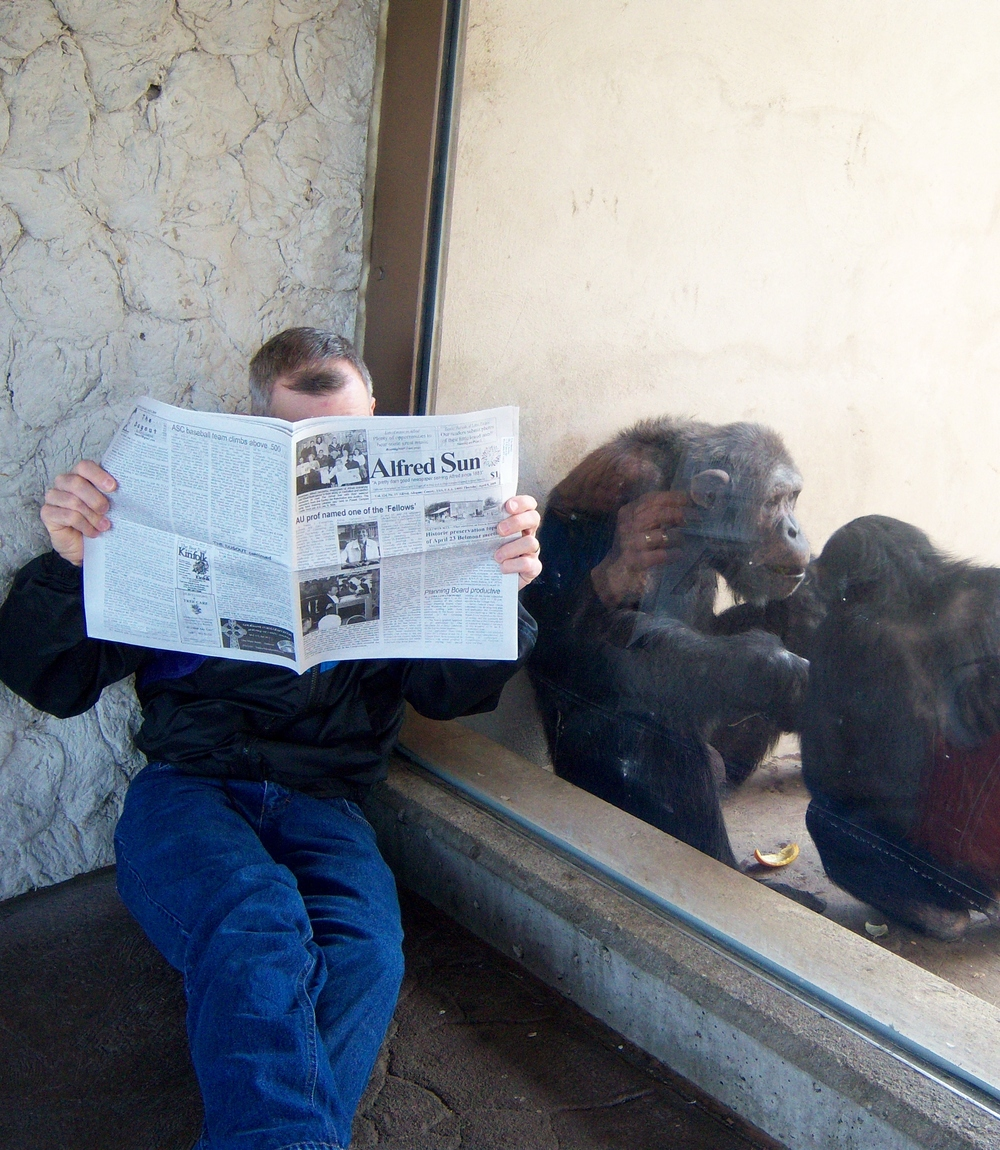 The Alfred Sun: Where great minds meet. (And they don't monkey around.)