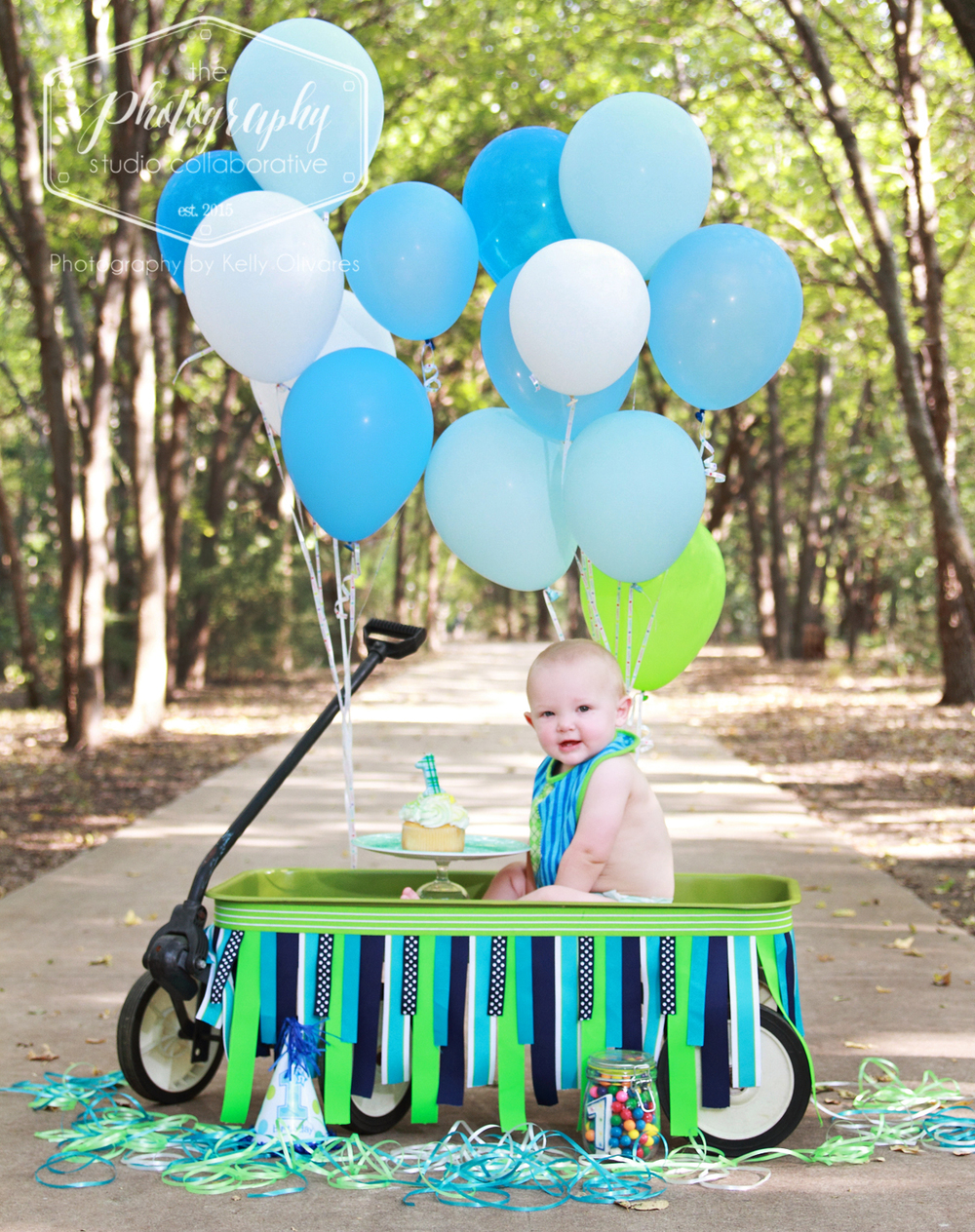 Kelly Olivares Photography Birthday Bash Session Cake Wagon