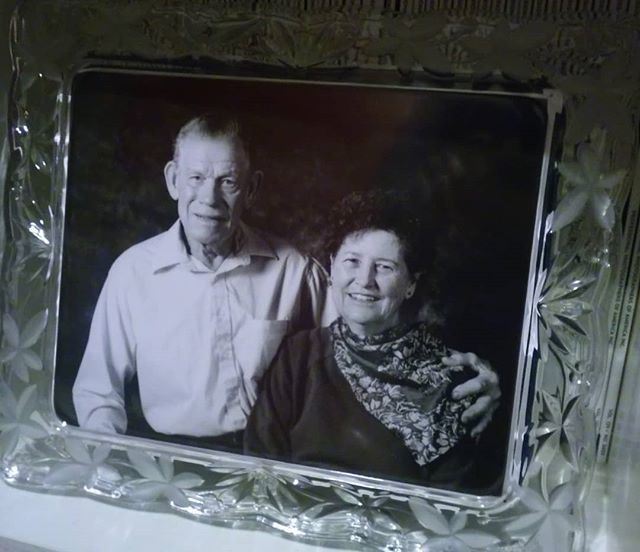"My first ever ""couple session"" that I photographed in my portrait class in college.  My grandparents.  I printed this myself in the darkroom and now, it is one of my most treasured images I have ever taken.  #59yearstogether #couplesession #grandparents #darkroom #couplegoals #blackandwhite #portrait #treasure"