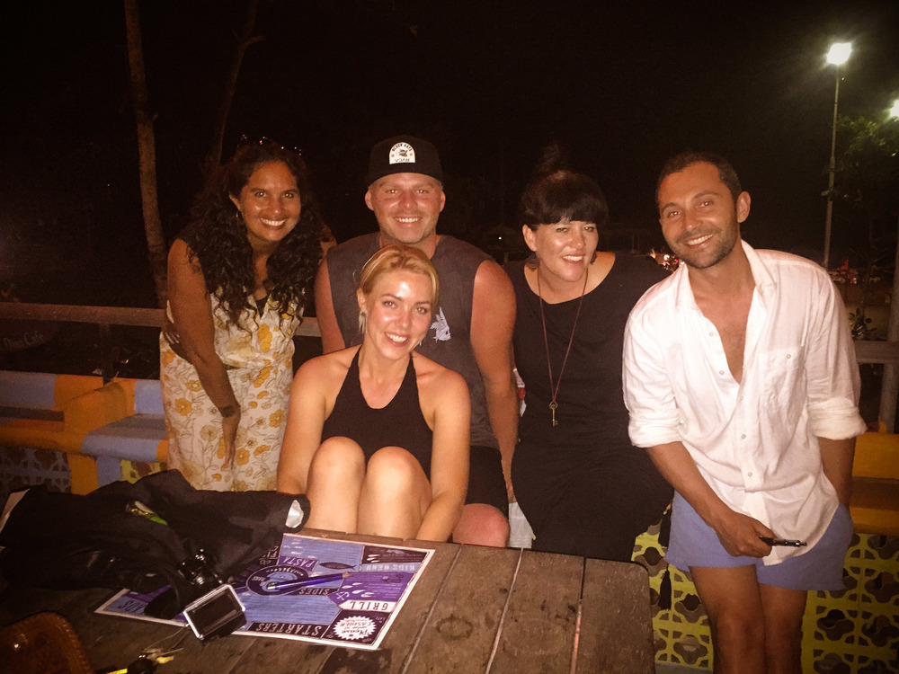 Rachel, Lukas, Freedom, Ben & Hera - at ''Old Man's'' on the beach in Canggu