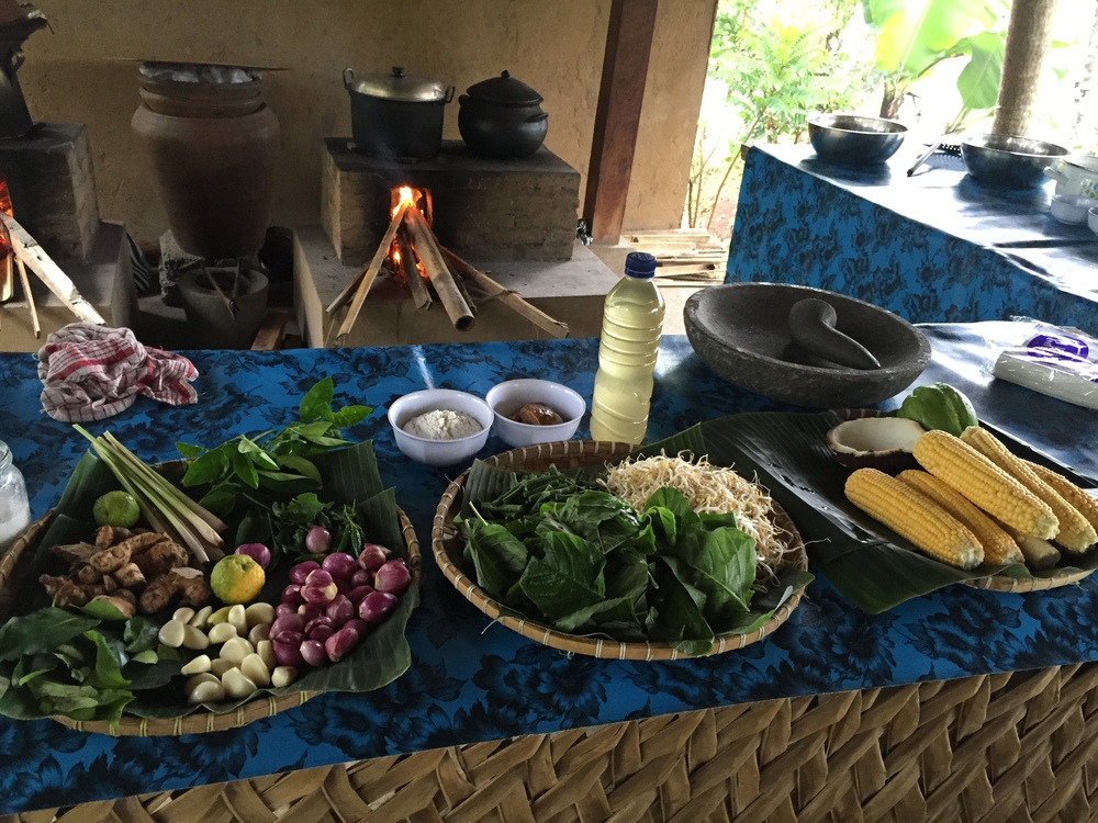 Be Bali Day cooking class in the rainforest...