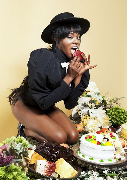 Azealia Banks in the holiday spirit.