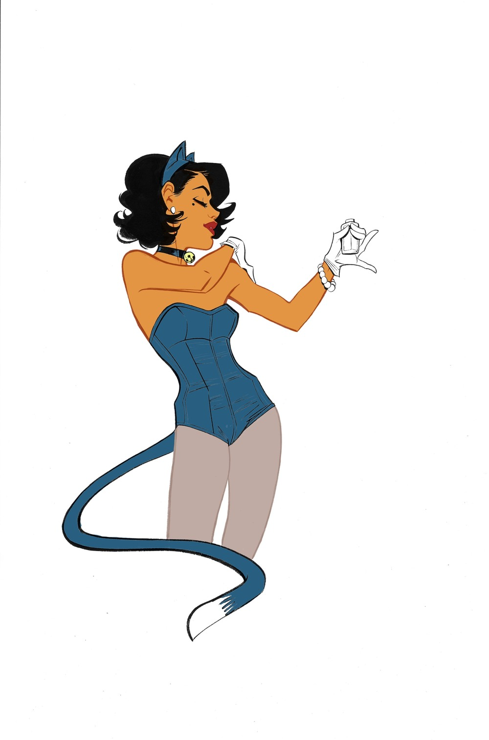 Throwback Thursday: The first drawing of Josie in her Kitty Kat Club costume.