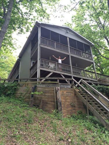 This cabin was fantastic! It had a 2 person swing, a 4 person porch swing, a tire swing, and a hammock! Dreams do come true.