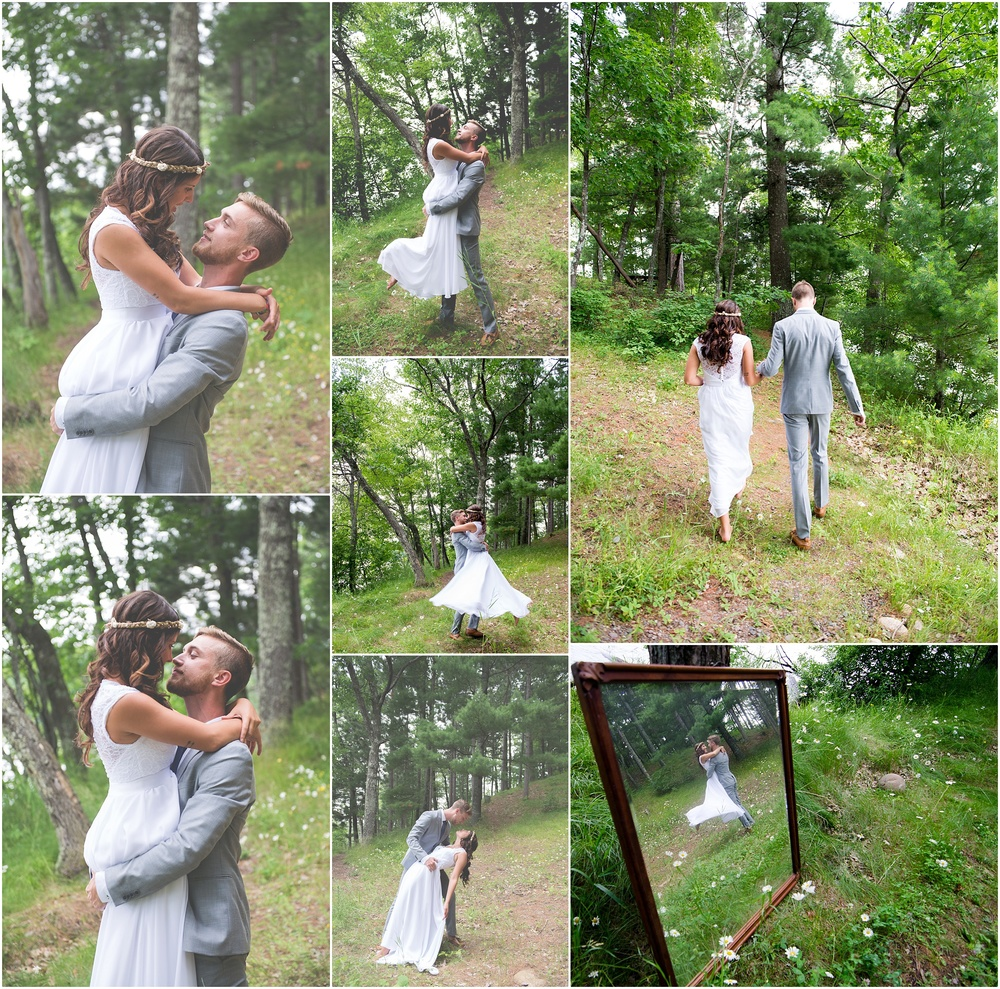 Daniel and I having our own moment in the woods before we walk down the isle <3