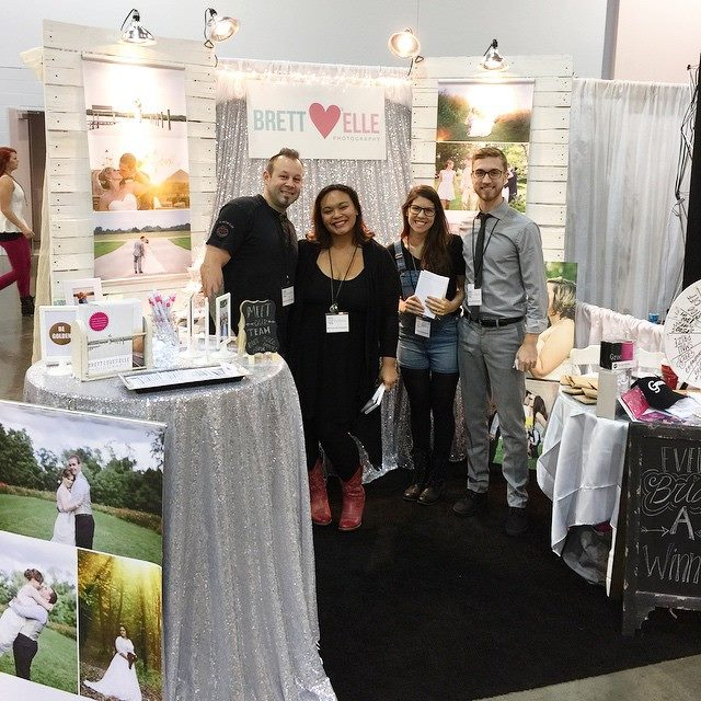 Here we are at the COlumbus Bride show!