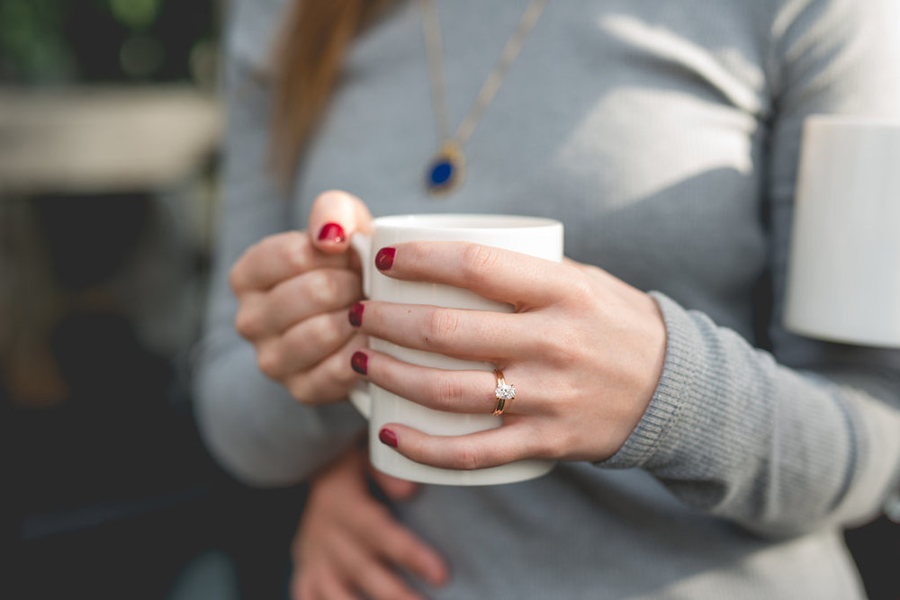 Loved the use of the coffee mug for Amy's ring shot!