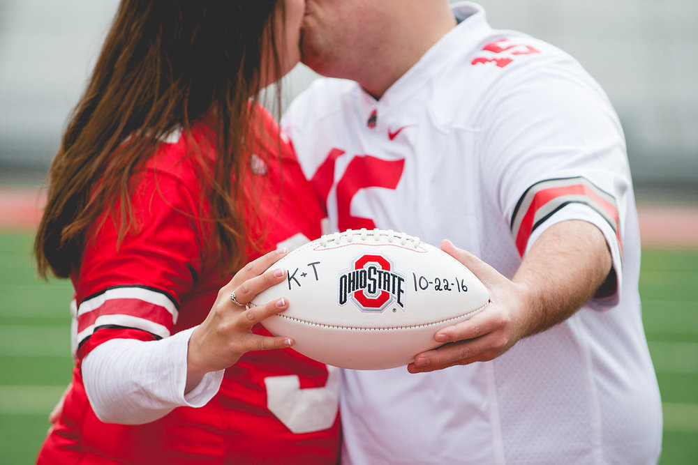 Brett Loves Elle Photography, Columbus Wedding Photographer, OSU Stadium, Buckeyes
