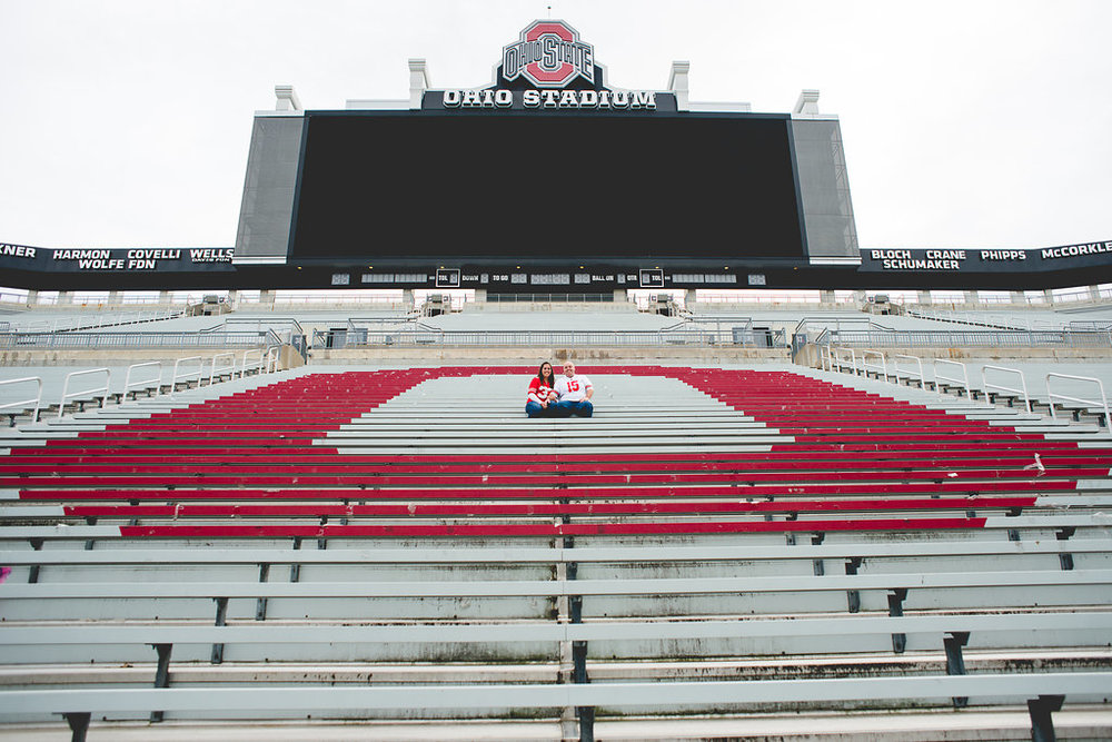 Brett Loves Elle Photography, Columbus Wedding Photography, OSU Stadium, Buckeyes