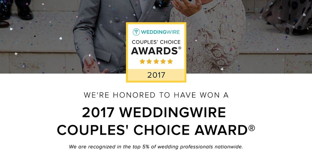 Wedding Wire Couples' Choice Award. Brett Loves Elle Photography