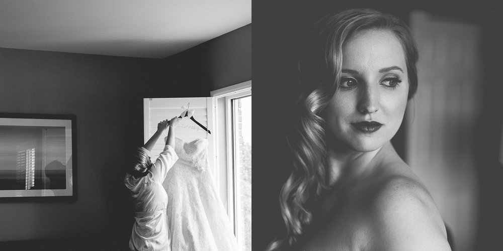 Black and White Bridal Prep Portraits By Brett Loves Elle Photography, Columbus Wedding Photographers
