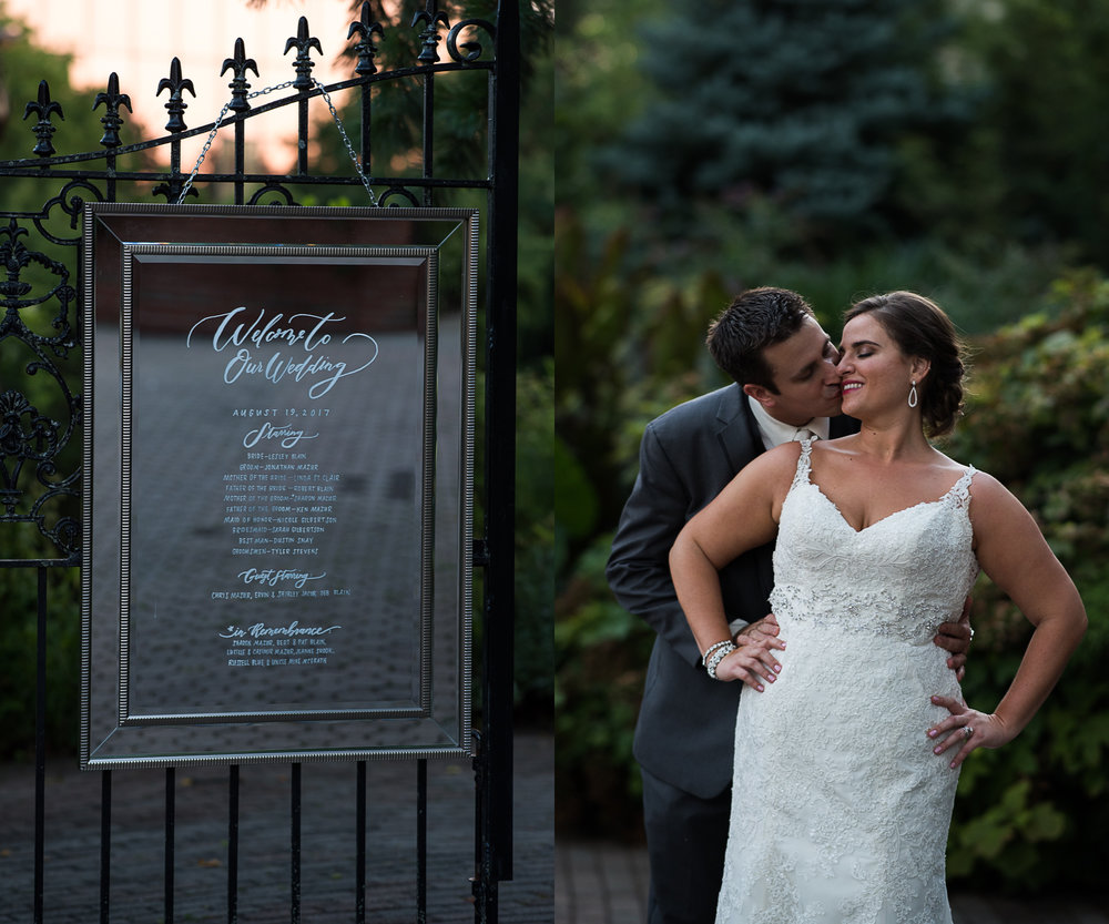 Lesley and Jon, Taylor Mansion Garden Wedding. Columbus, Ohio