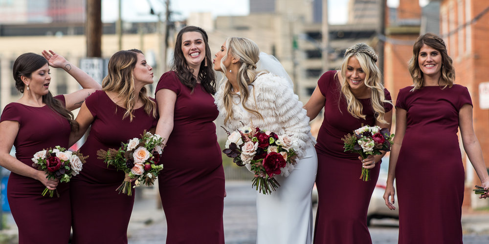 Brett Loves Elle, Romantic Fall Downtown Wedding, Columbus Wedding Photography, Columbus Wedding Photographers, Bridesmaid Love