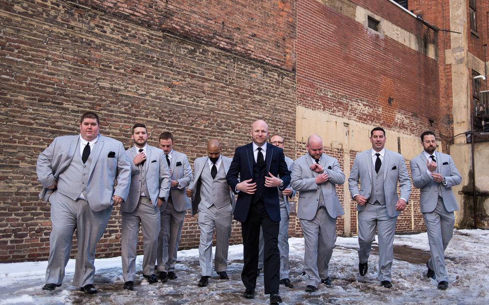 Columbus Wedding Photographers, Brett Loves Elle Photography, Winter Wedding Groomsmen Inspo