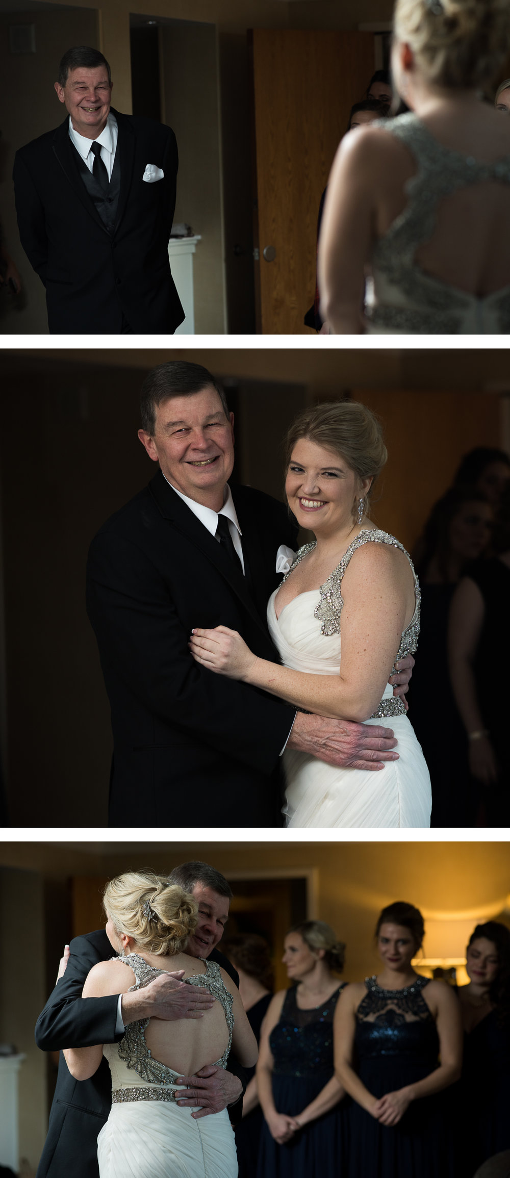 Columbus Wedding Photographers, Brett Loves Elle Photography, First Look with Dad