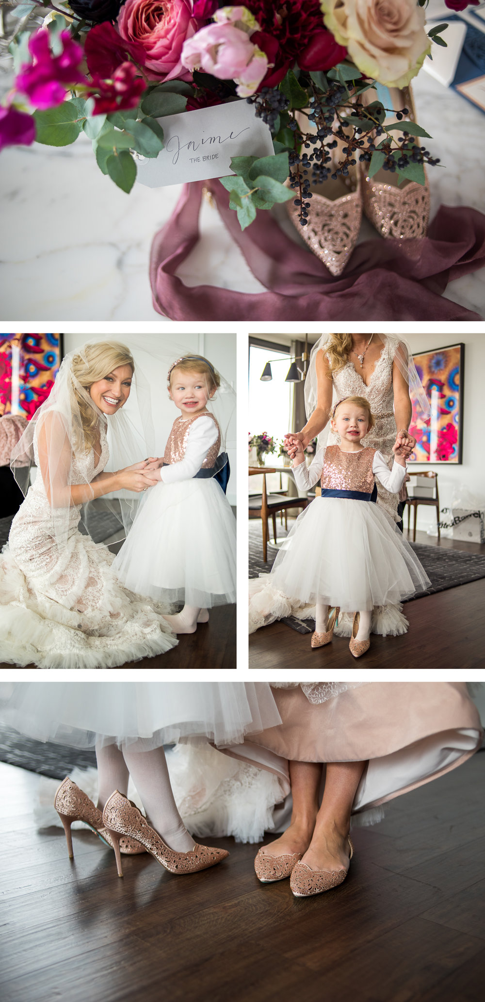 Brett Loves Elle, Columbus Wedding Photographers, Columbus Wedding Photography, Ohio Wedding, Flower Girl in Brides Shoes, Vintage Glam Wedding